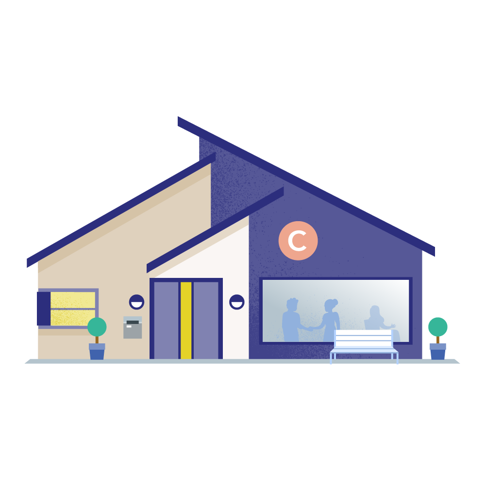 Community centre illustration