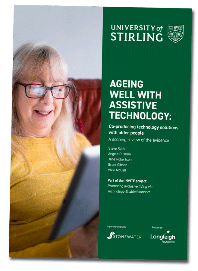 Image showing the University of Stirling Booklet - Ageing well with assistive technology